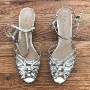 Shoes - Schutz Gold Flats